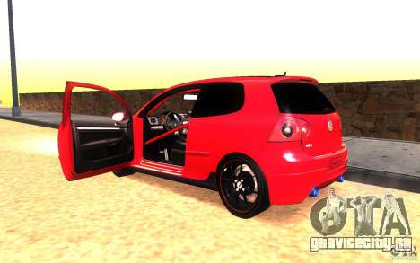 VolksWagen Golf GTI MK5 для GTA San Andreas вид изнутри