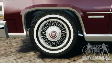 Cadillac Fleetwood Brougham Delegance 1986 для GTA 4 вид снизу