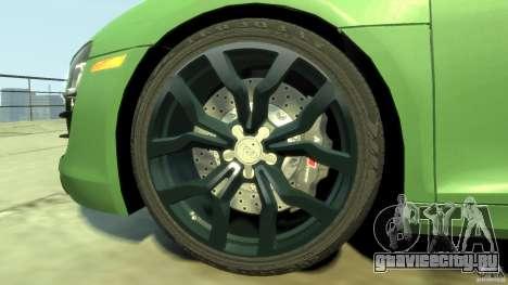 Audi R8 5.2 FSI quattro v1 для GTA 4 вид сбоку