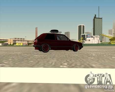 VW Golf II Shadow Crew для GTA San Andreas вид снизу