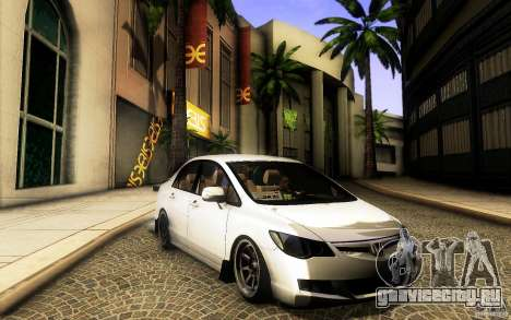 Honda Civic FD BlueKun для GTA San Andreas вид слева