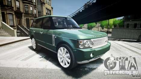 Range Rover Supercharged v1.0 для GTA 4 вид сзади