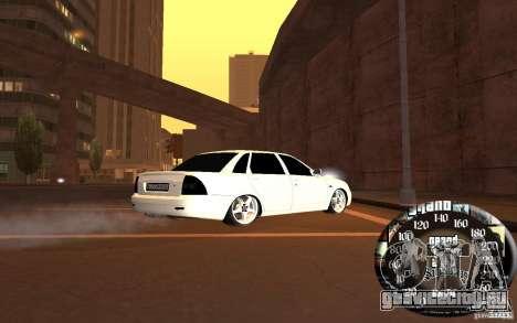 Лада Приора v.2 для GTA San Andreas вид сзади слева