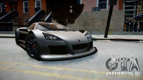 Gumpert Apollo Sport 2011 для GTA 4 вид справа
