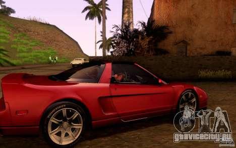 Acura NSX Targa для GTA San Andreas вид изнутри