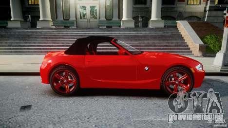BMW Z4 Roadster 2007 i3.0 Final для GTA 4 вид сбоку