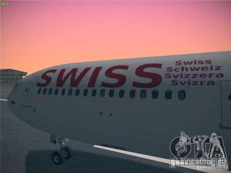 Airbus A340-300 Swiss International Airlines для GTA San Andreas вид справа