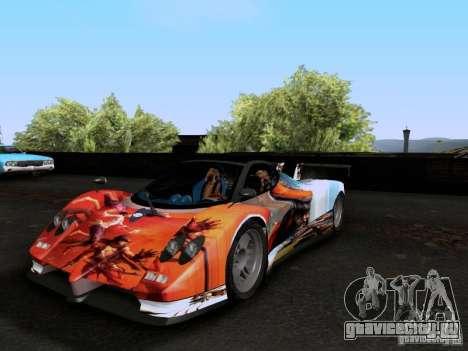 Pagani Zonda EX-R для GTA San Andreas вид сверху