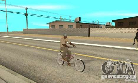 Lowrider Bicycle для GTA San Andreas вид справа