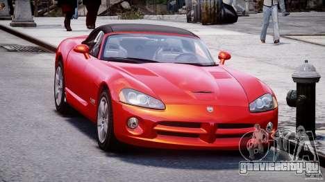 Dodge Viper SRT-10 2003 1.0 для GTA 4 вид справа