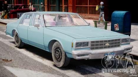 Chevrolet Impala 1983 [Final] для GTA 4 вид сбоку