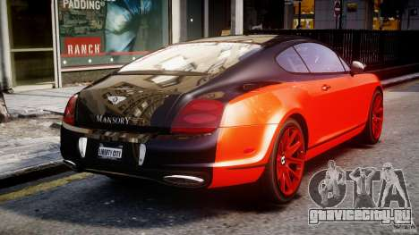 Bentley Continental SS 2010 Le Mansory [EPM] для GTA 4 вид сбоку