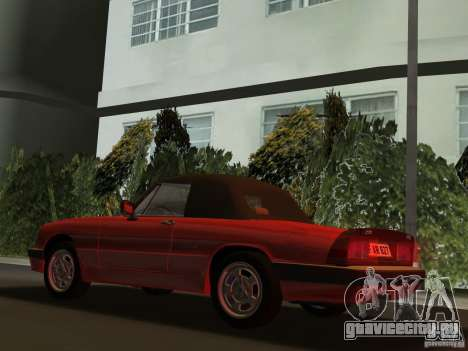 Alfa Romeo Spider 1986 для GTA Vice City вид сзади слева