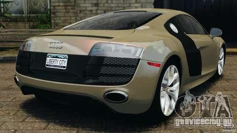 Audi R8 V10 2010 для GTA 4 вид сзади слева