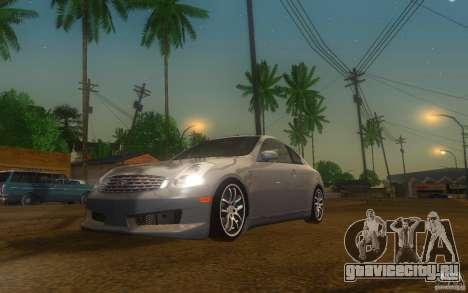 Infiniti G35 - Stock для GTA San Andreas вид слева