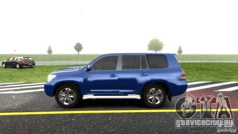Toyota Land Cruiser 200 RESTALE для GTA 4 вид сзади слева