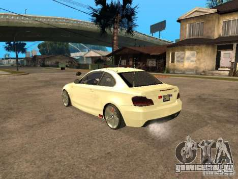 Bmw 135i coupe Police для GTA San Andreas вид слева