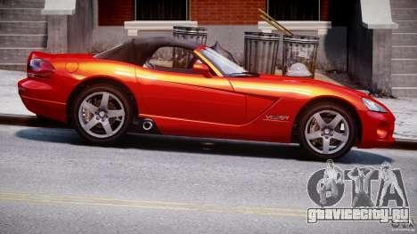 Dodge Viper SRT-10 2003 1.0 для GTA 4 вид сзади