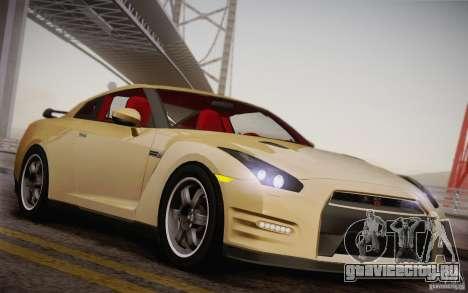 Nissan GTR Egoist для GTA San Andreas вид изнутри