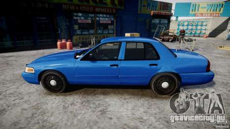 Ford Crown Victoria Detective v4.7 [ELS] для GTA 4 вид слева