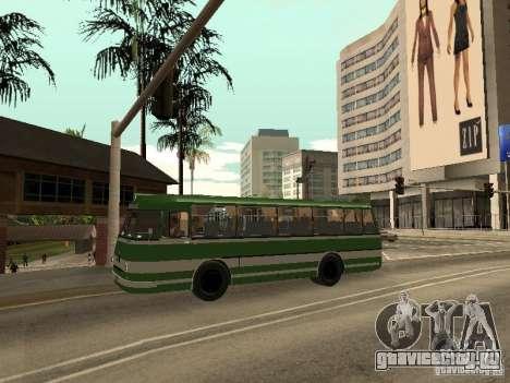 ЛАЗ 697М для GTA San Andreas вид изнутри