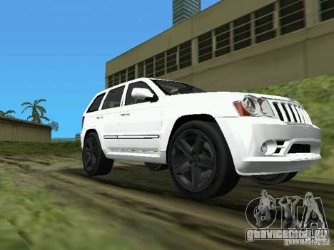 Jeep Grand Cherokee SRT8 TT Black Revel для GTA Vice City вид сзади слева