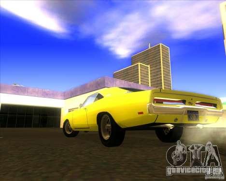 Dodge Charger RT 1969 для GTA San Andreas вид сзади слева
