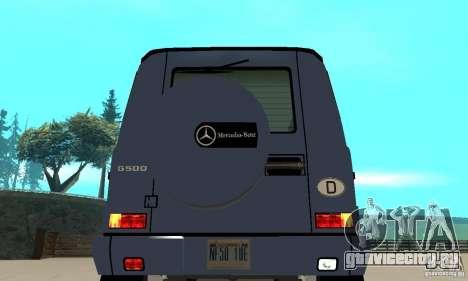 Mercedes-Benz G500 1999 Short [with kangoo v3] для GTA San Andreas вид сзади