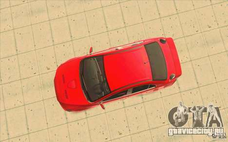 Mitsubishi Lancer Evolution X MR1 для GTA San Andreas вид сзади