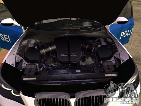 BMW 5-er Police для GTA San Andreas вид сзади
