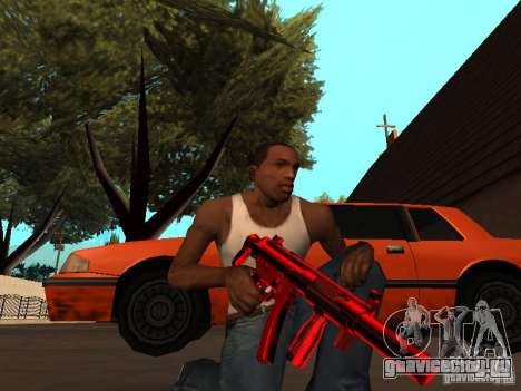 Red Chrome Weapon Pack для GTA San Andreas седьмой скриншот