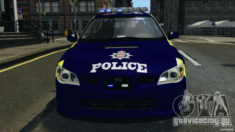 Subaru Impreza British ANPR [ELS] для GTA 4 вид снизу