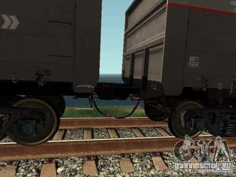 Полувагон ОАО РЖД для GTA San Andreas вид изнутри