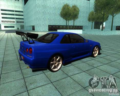Nissan Skyline R-34 GT-R M-spec Nur для GTA San Andreas вид справа