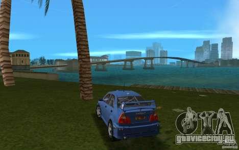 Mitsubishi Lancer Evo VI для GTA Vice City вид сзади слева