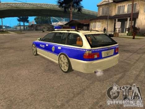 BMW 525i Touring Police для GTA San Andreas вид слева