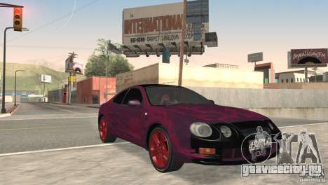 Toyota Celica для GTA San Andreas вид сзади