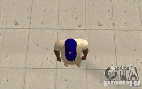 Кепка newyorkyankiys фиолетовая для GTA San Andreas третий скриншот