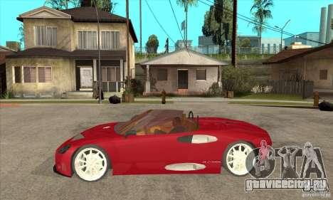 Spyker C8 Spyder для GTA San Andreas вид слева