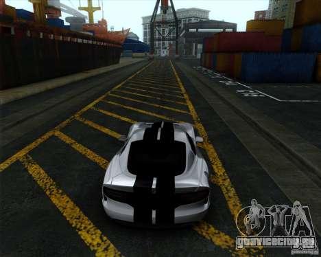 Dodge Viper SRT 2013 для GTA San Andreas вид сзади слева