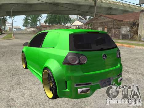 Volkswagen Golf V R32 Custom для GTA San Andreas вид слева