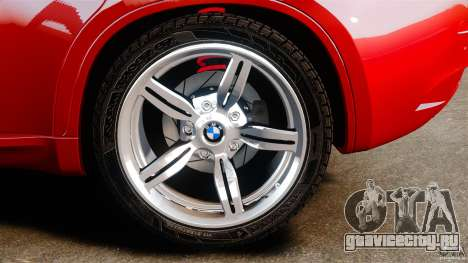 BMW X6 M 2010 для GTA 4 вид изнутри