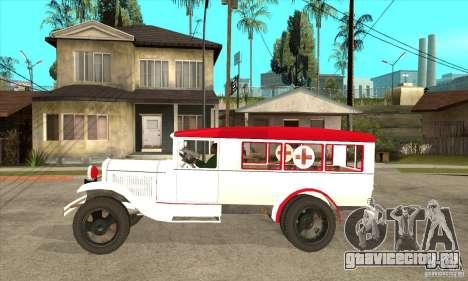 ГАЗ АА Скорая помощь для GTA San Andreas вид слева