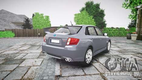 Subaru Impreza WRX 2011 для GTA 4 вид сбоку