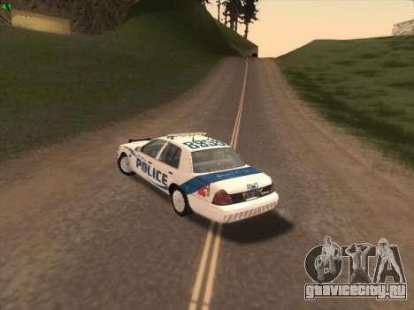 Ford Crown Victoria Vancouver Police для GTA San Andreas вид сзади