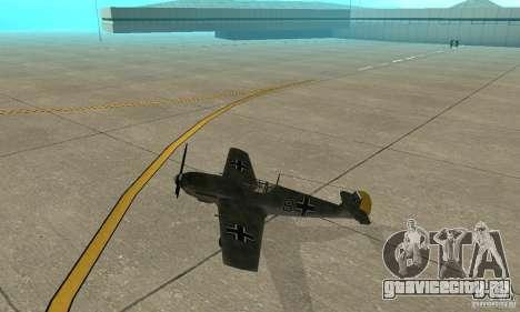 Bf-109 для GTA San Andreas вид сзади слева