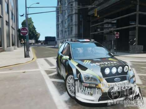 Ford Focus RS WRC для GTA 4 вид сзади