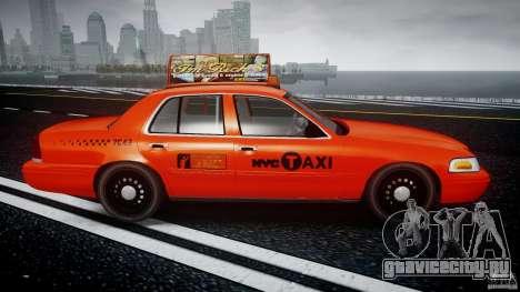 Ford Crown Victoria 2003 v.2 Taxi для GTA 4 вид изнутри
