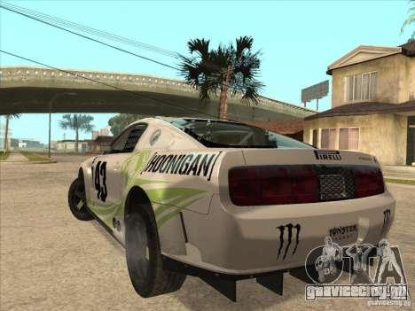 Ford Mustang Ken Block для GTA San Andreas вид слева