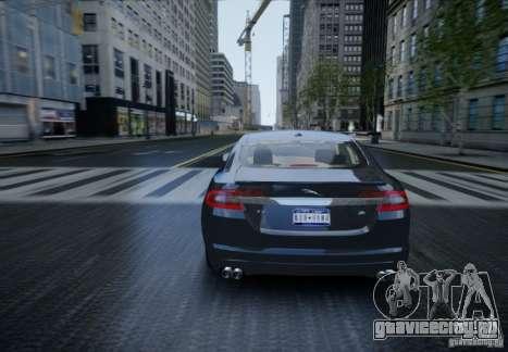 Jaguar XFR 2010 V.2.0 для GTA 4 вид изнутри